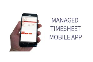 managed timesheet mobile app