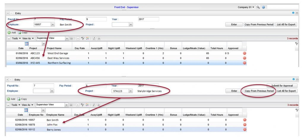 construction payroll software dashboard