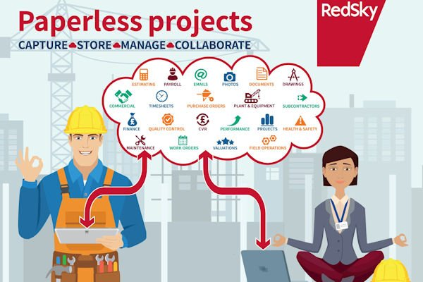 paperless construction project software from redsky