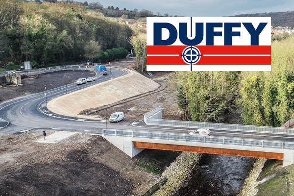 Image of a road build by Peter Duffy Ltd