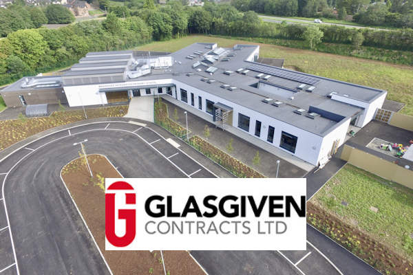new school build by Glasgiven Contracts Ltd.